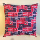 NEW 15 x 15 NHL HOCKEY COMPLETE COTTON THROW PILLOWS - GREAT GIFTS!  ALL TEAMS! $25.98 USD on eBay