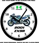2001 KAWASAKI ZX9R MOTORCYCLE WALL CLOCK-FREE USA SHIP