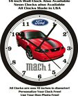 2003 FORD MUSTANG MACH 1 WALL CLOCK-FREE USA SHIP-Other colors available