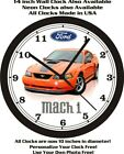 2004 FORD MUSTANG MACH 1 WALL CLOCK-FREE USA SHIP- other colors available!