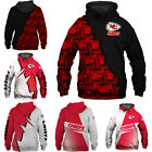 Kansas City Chiefs Football Hoodie Men's Sweatshirts Pullover Hooded Jacket Coat $29.44 USD on eBay