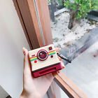 Instagram Retro Vintage Camera 3D FB Apple AirPods Case Cover Silicone Keychain