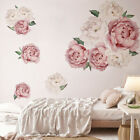 Peony Flower Wall Sticker Living Room Background Decal Diy Decoration Novelty
