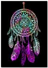 "Beautiful Dreamcatcher CANVAS ART PRINT spiritual Native Black poster 24""X16"""