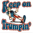 Anti Liberal Conservative TRUMP KEEP ON Funny Political Shirt image