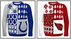 NFL Men Ugly Busy Block Christmas Sweater, Indianapolis Colts, Arizona Cardinals $27.99 USD on eBay