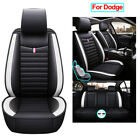 Universal Car Seat Cover Set PU Leather Cushion Fit for Dodge Charger Durango $158.74 USD on eBay