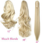 Thick Clip In Pony Tail Hair Extensions Claw Clip On Ponytail As Natural Piece P