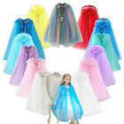 Kids Sequin Hooded Cloak Princess Accessory Cape For Girls Summer Party Dress Up