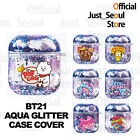Official BTS BT21 Aqua Glitter Airpods Case Cover Purple Color+Freebies+Tracking