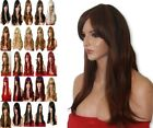 Brown Copper Long Curly Straight Wavy Women Ladies Fashion Adult Light Ash Wigs