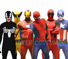 Morphsuit Marvel Superhero Costume Deadpool Spiderman Cpt America Iron Man CHEAP