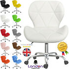 Adjustable Cushioned Desk Computer Office Chair Chrome Legs Lift Swivel Chairs