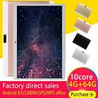 10.1'' 64GB Android 8.1 Tablet PC Octa Core10 Inch HD WIFI 2 SIM 4G Phablet NewK