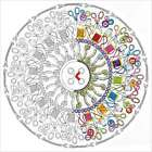 "Zenbroidery Stamped Embroidery 12""X12"" Sewing Mandala 021465040493"