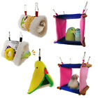 Triangle Square Plush Nest Bird Parrot Hanging Cave Hammock Cage Bed Toy Novelt