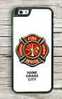 FIREFIGHTERS LOGO PERSONALIZED #2 CASE FOR iPHONE 6 6S or 6 6S PLUS -ghw3X