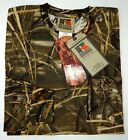NWT Russell Outdoors TShirt Mens M Brown Camo Sleeve RealTree Max-4 Mountain Dew