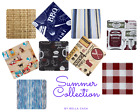 Summer Themed Flannel backed Vinyl Tablecloths. Round, Oblong, Square