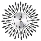 Crystal Wall Clock 37cm Diamante Wire Sun Art Home Jeweled Numeral Clock Hanging