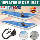 US GYM Inflatable Pad Air Track Tumbling Floor Gymnastics Training Mat + Pump image