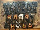 HUGE LISTING OF 23 WIRELESS PS2 GUITAR HERO GUITARS WITH DONGLES !!