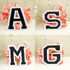 Letter A-Z Embroidered Iron On Patch Sew Motif DIY Sewing Applique Fabric Crafts