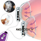 Vibrating Breast Nipple Massager Pump Enlargement Suction Electric Massage Cup