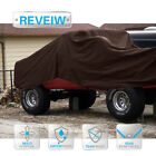 PATIO Brown Heavy Duty 15Mil Tarp Canopy Tent Shelter Boat Reinforced Resistant