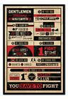 Fight Club Rules Infographic MAGNETIC NOTICE BOARD Inc Magnets | UK Seller