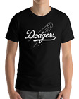 Los Angeles Dodgers black T-Shirt white Logo Cotton Adult S-2XL LA LAD on Ebay