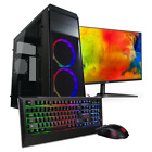 "Gaming PC Komplett Set AMD Ryzen 5 3400G 4x 4.2GHz 8GB RAM 256GB M.2 SSD 24"" TFT"
