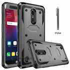 For LG K30/Premier Pro LTE Armor Case With Kickstand Belt Clip+Screen Protector