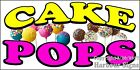CHOOSE YOUR SIZE Cake Pops DECAL Cake Concession Food Truck Vinyl Sticker