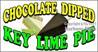 Choose Your Size Key Lime Pie Chocolate Dipped DECAL Food Truck Concession