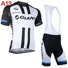 New Men summer cycling Jersey MTB bike shirt bib shorts suit bicycle Outfits A76