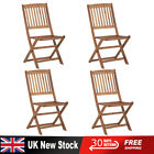 4 Piece Garden Furniture Outdoor Patio Dining Chair 4 Folding Chairs Set Wido Uk