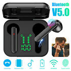 Bluetooth 5.0 Headset TWS Wireless Headphone Earphones Stereo Gym Touch Earbuds