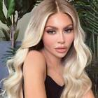 Womens Girls Ladies Curly Ombre Blonde Wavy Cosplay Long Front Natural Smart Wig