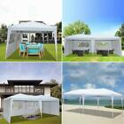 10'x20' Pop Up Gazebo Canopy Tent Fold Marquee Awning  w/ Walls Side Carry Bag
