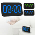 Large LED Digital Alarm Snooze Clock Voice Control Time Display 3.5 Screen Gift