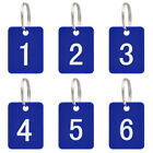 Lot of 50 Aspire Numbered Tag Pack with Key Ring, Acrylic Tag for Organizing
