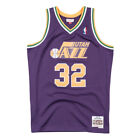 Utah Jazz Karl Malone Mitchell Ness 1991-92 Hardwood Classic Purple NBA Jersey