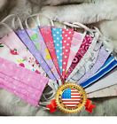 Adult Handmade Reusable Washable Cotton Face Mask With Filter Pocket Nose Wire