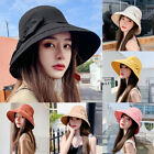 Women Outdoor Bowknot Wide Brim Sun Hat UV Protection Summer Bucket Cap Novelty