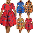 Kids Girls Short Sleeve Printed Swing Dress Summer Casual Holiday Tutu Dresses