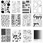Flower Transparent Silicone Stamp Clear Rubber Stamps Cling DIY Scrapbook Card