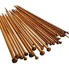 """Pair 25cm 9.75"""" Wooden Bamboo Knitting Needles Single Point 2mm - 10mm"""