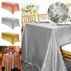 Sparkly Sequin Tablecloth Rectangular Table Cover Wedding Party Linen 39x59 inch