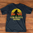 Social Distancing Champion Funny Bigfoot T-Shirt